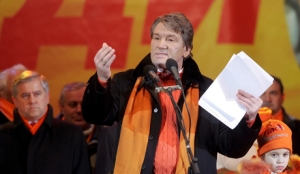 Ukrainian President Viktor Yushchenko has his speech to Ukrainian people