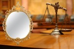 Decorative Scales of Justice in theCourtroom
